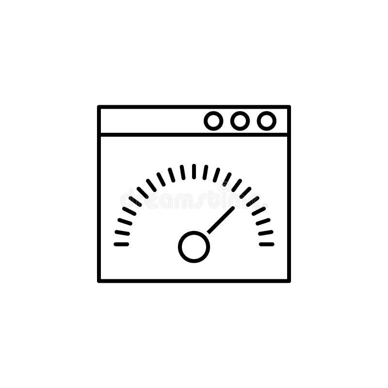 biznesowy seo, szybkościomierz kreskowa ikona Praca zespołowa przy pomysłem Znaki i symbole mog? u?ywa? dla sieci, logo, mobilny  ilustracja wektor