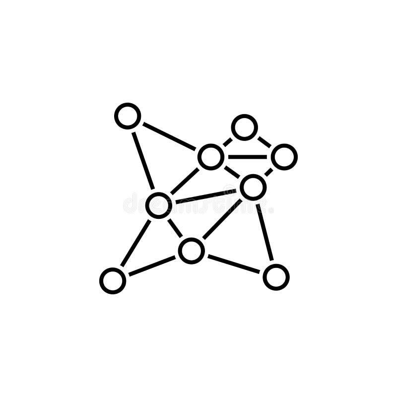 biznesowy seo, związek kreskowa ikona Praca zespołowa przy pomysłem Znaki i symbole mog? u?ywa? dla sieci, logo, mobilny app, UI, royalty ilustracja