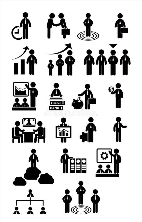 Biznesowy sieci ikony set ilustracji