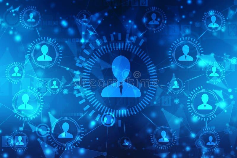 Biznesowy sieci pojęcia tło, Ogólnospołeczne sieci i interakcji pojęcie, Abstrakcjonistyczny technologii tło ilustracja wektor