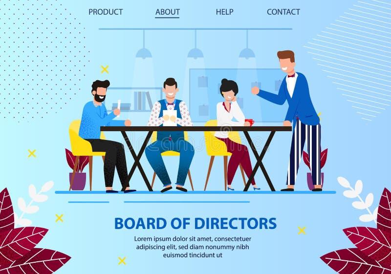 Biznesowy spotkani rady dyrektory w biurze ilustracji
