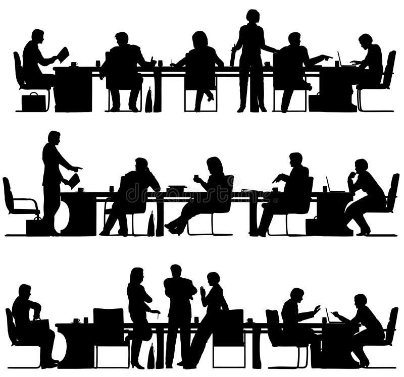 biznesowy spotkanie ilustracja wektor