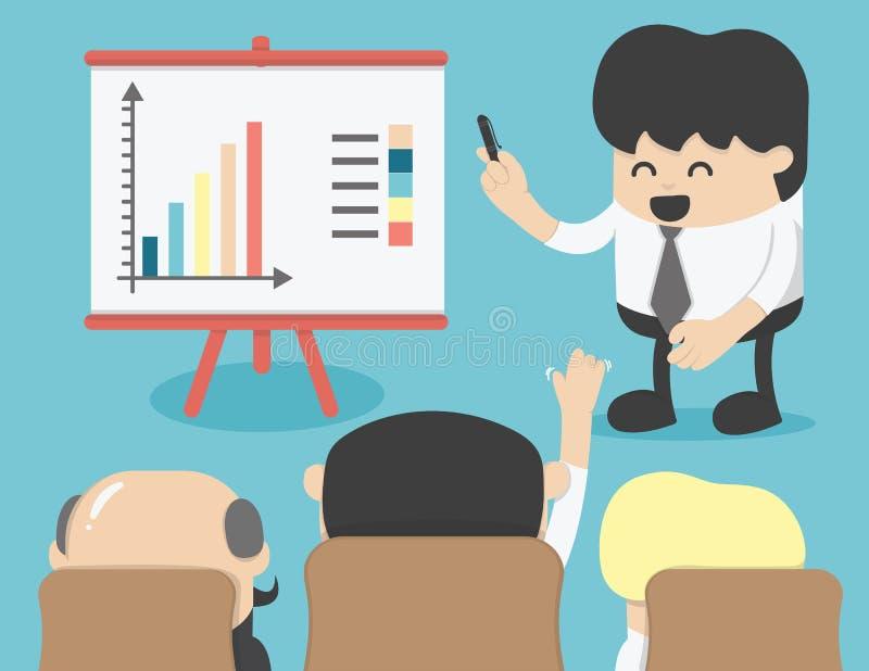 Biznesowy spotkanie, brainstorming ilustracji
