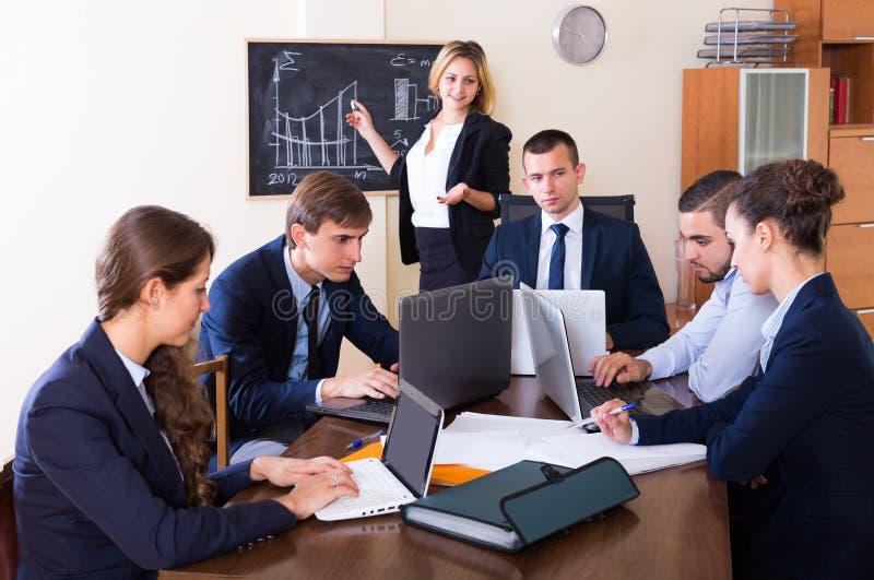 Biznesowy spotkanie drużyna zdjęcie royalty free