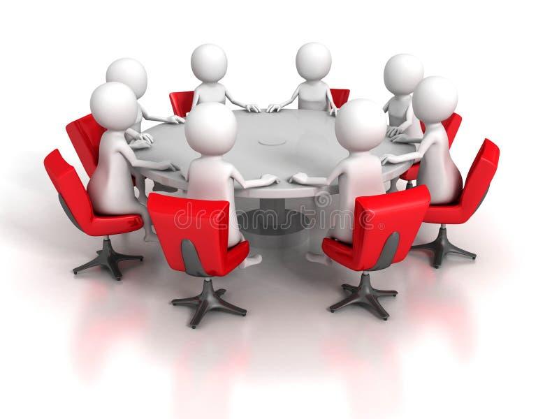 Biznesowy spotkanie drużyny grupy 3d ludzie ilustracja wektor