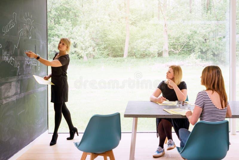 Biznesowy spotkanie ?e?ski zaczyna w g?r? zdjęcia stock