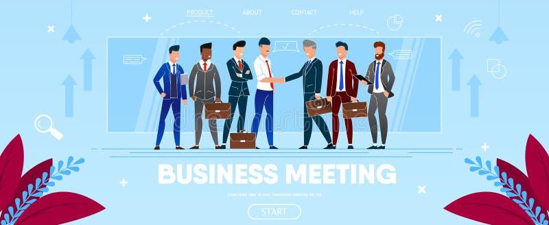 Biznesowy spotkanie ludzie Grupowych chwianie r?k ilustracji