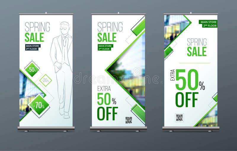 Biznesowy Stacza się Up sztandaru stojaka 3d tła pojęcia ilustracja odizolowywał prezentacja odpłacającego się biel Abstrakcjonis ilustracji