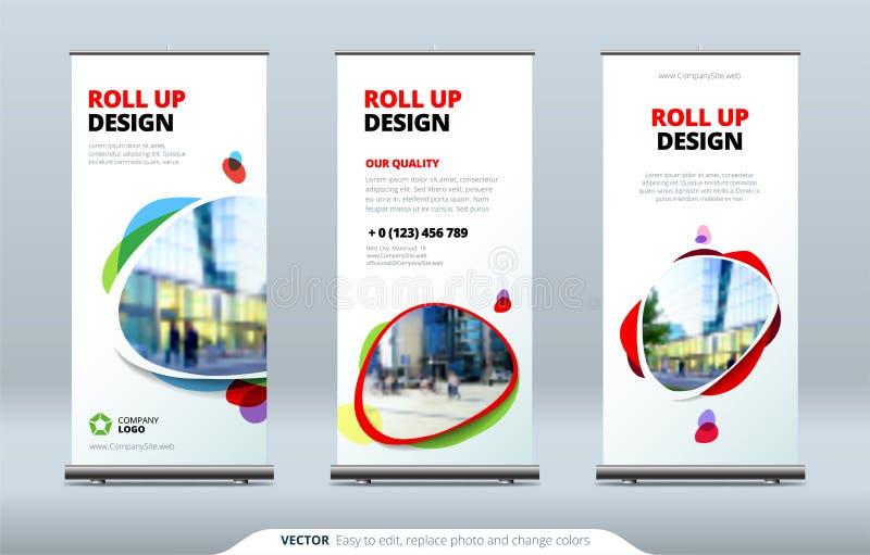 Biznesowy Stacza się Up sztandaru stojaka 3d tła pojęcia ilustracja odizolowywał prezentacja odpłacającego się biel Abstrakcjonis ilustracja wektor