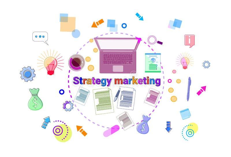 Biznesowy strategia marketingowa rozwoju pojęcia projekta planowania sztandar ilustracji