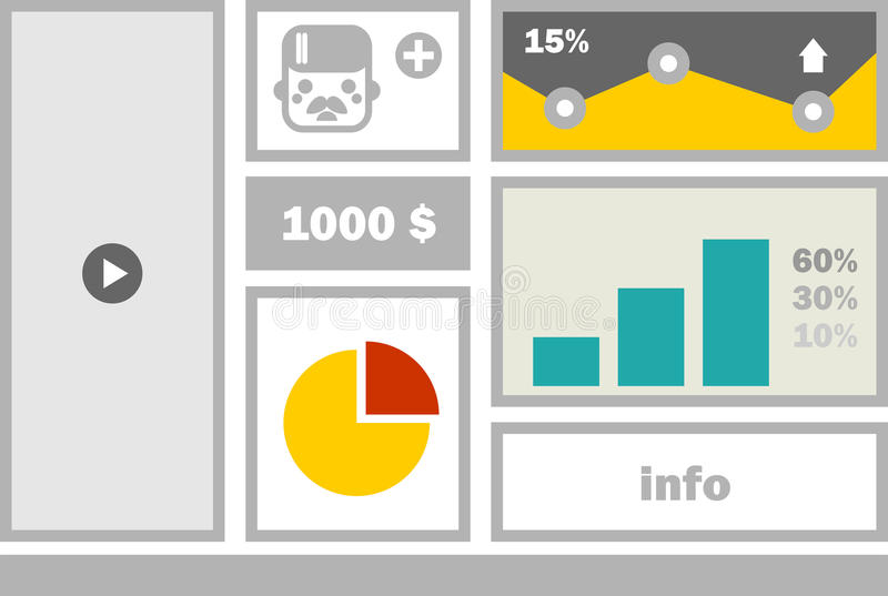 Download Biznesowy Strona Internetowa Menu Ilustracji - Ilustracja złożonej z środki, zarządzanie: 53782535