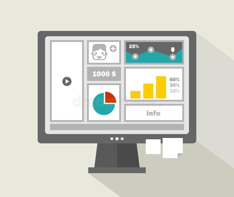 Download Biznesowy Strona Internetowa Menu Z Chłopiec Stawia Czoło Na Komputerze Ilustracji - Ilustracja złożonej z biznes, twórczość: 53792683