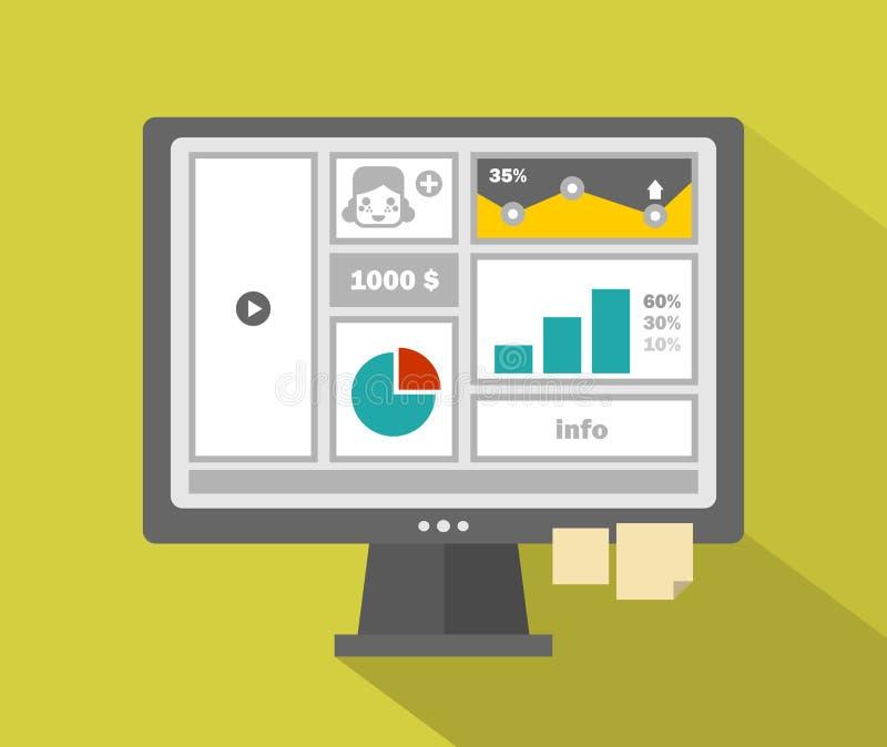 Download Biznesowy Strona Internetowa Menu Z Dziewczynami Stawia Czoło Na Komputerze Ilustracji - Ilustracja złożonej z układ, organizacja: 53792760