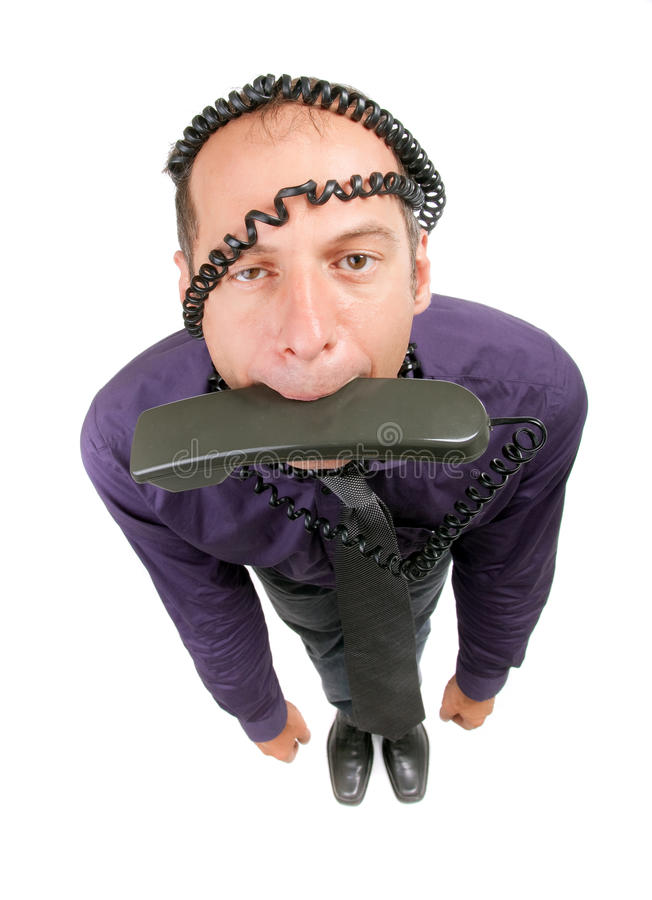 biznesowy szalony mężczyzna zdjęcie royalty free