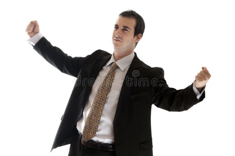 biznesowy szczęśliwy mężczyzna zdjęcie stock