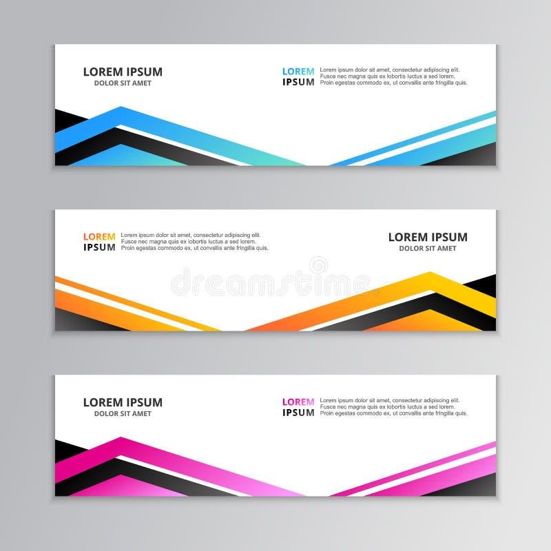 Biznesowy sztandaru szablon, układu tła projekt, Korporacyjny Geometryczny sieć chodnikowiec lub stopka w gradientowym kolorze, ilustracji