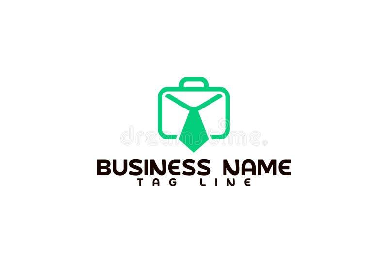 Biznesowy teczka logo projekt ilustracja wektor
