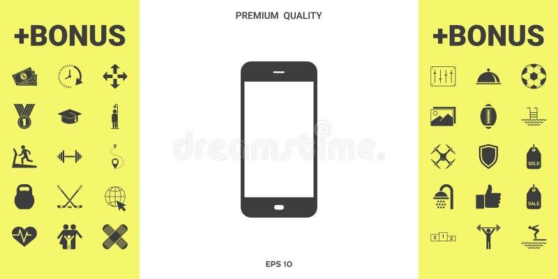 Biznesowy telefon z pustym ekranem ilustracji