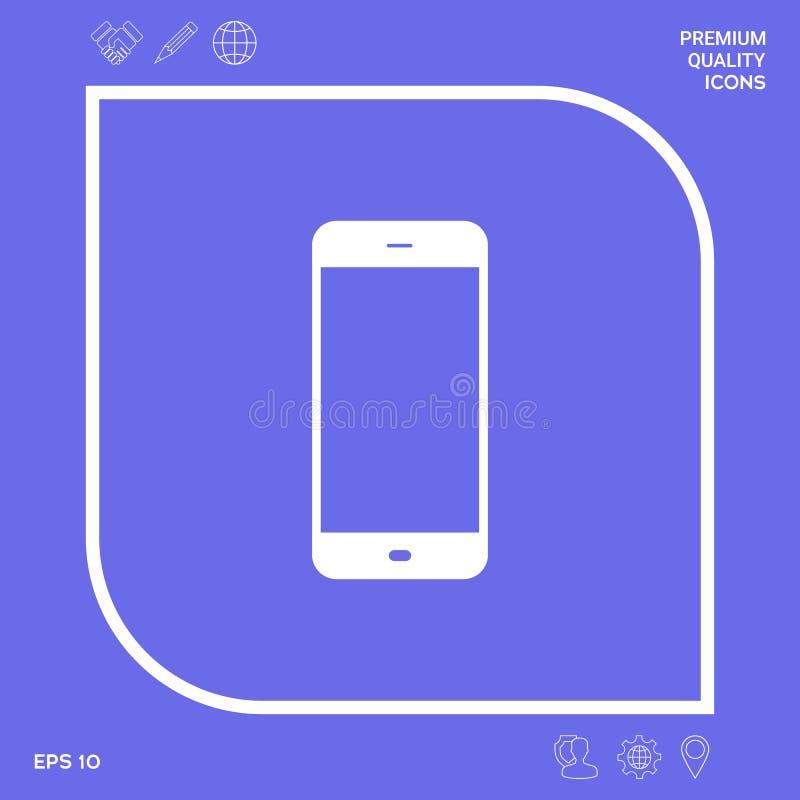 Biznesowy telefon z pustym ekranem Graficzni elementy dla twój projekta ilustracji