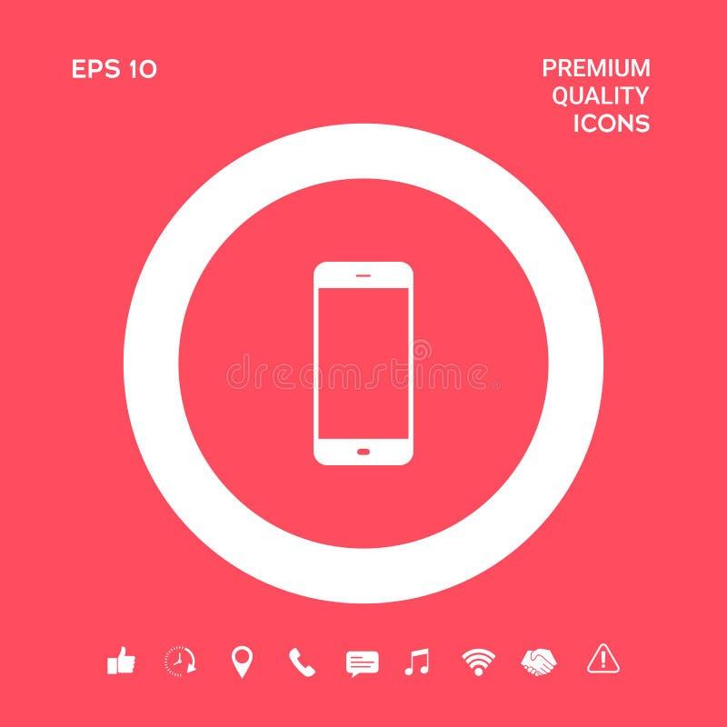 Biznesowy telefon z pustym ekranem Graficzni elementy dla twój projekta ilustracja wektor