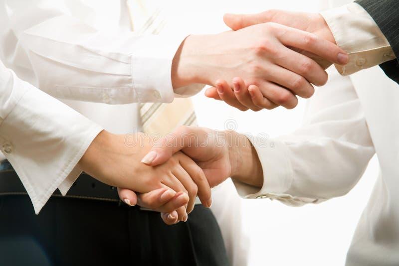 biznesowy uścisk dłoni obrazy royalty free