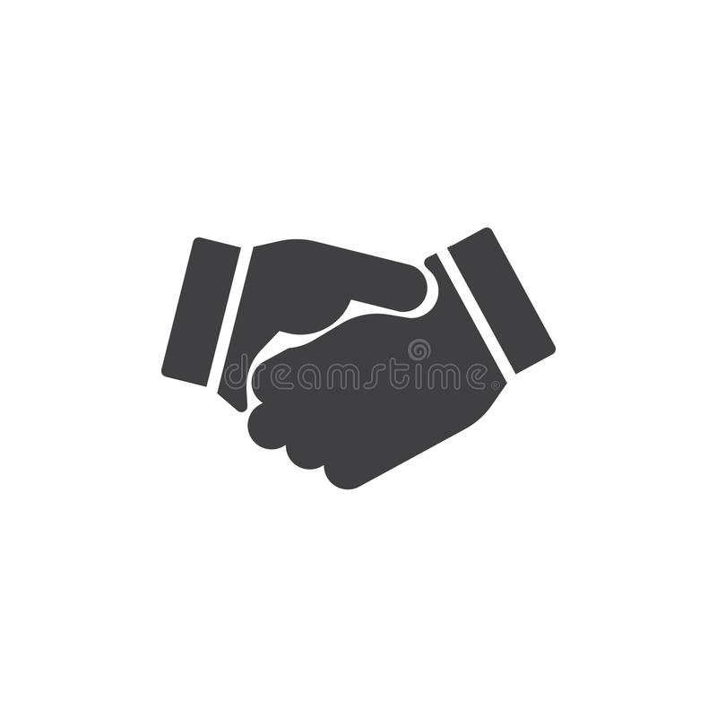 Biznesowy uścisk dłoni ikony wektor ilustracja wektor
