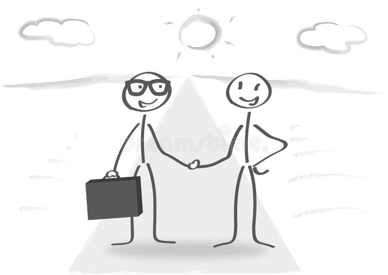 Biznesowy uścisk dłoni - zgoda ilustracji