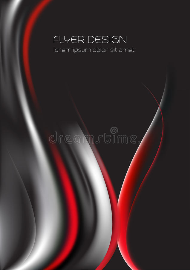 Biznesowy ulotka szablon, korporacyjny sztandar, brochur ilustracja wektor