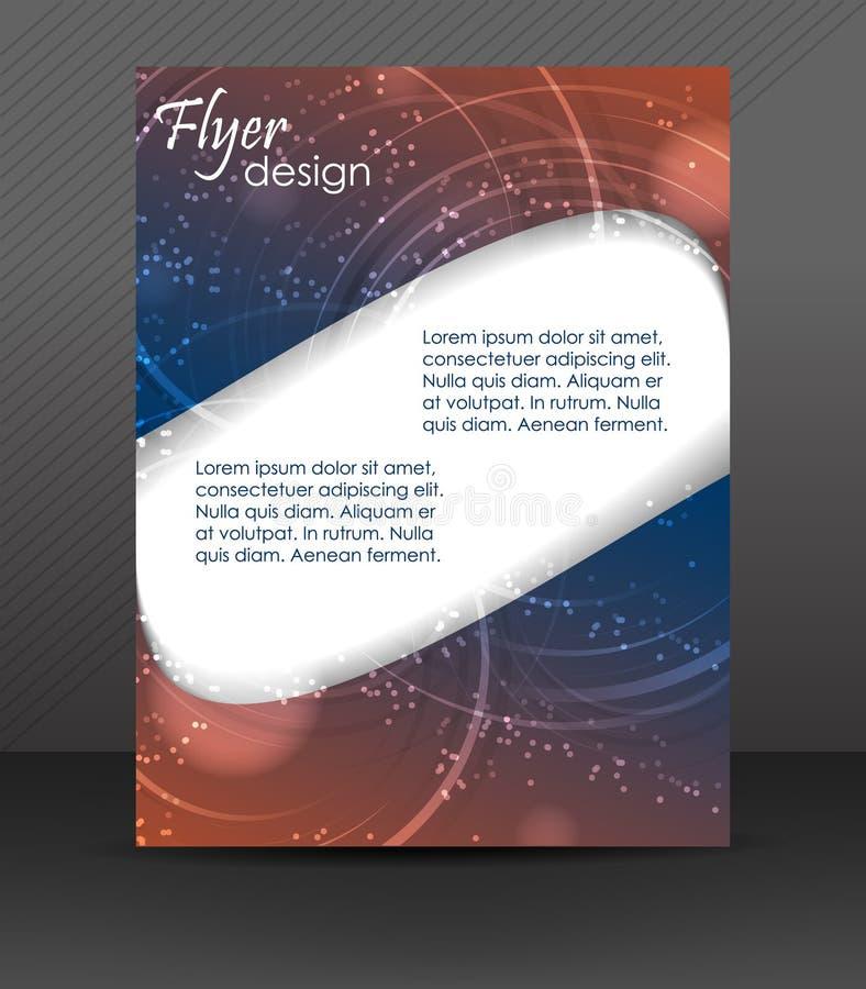 Biznesowy ulotka szablon lub korporacyjny sztandar, broszurka, okładkowy projekt royalty ilustracja