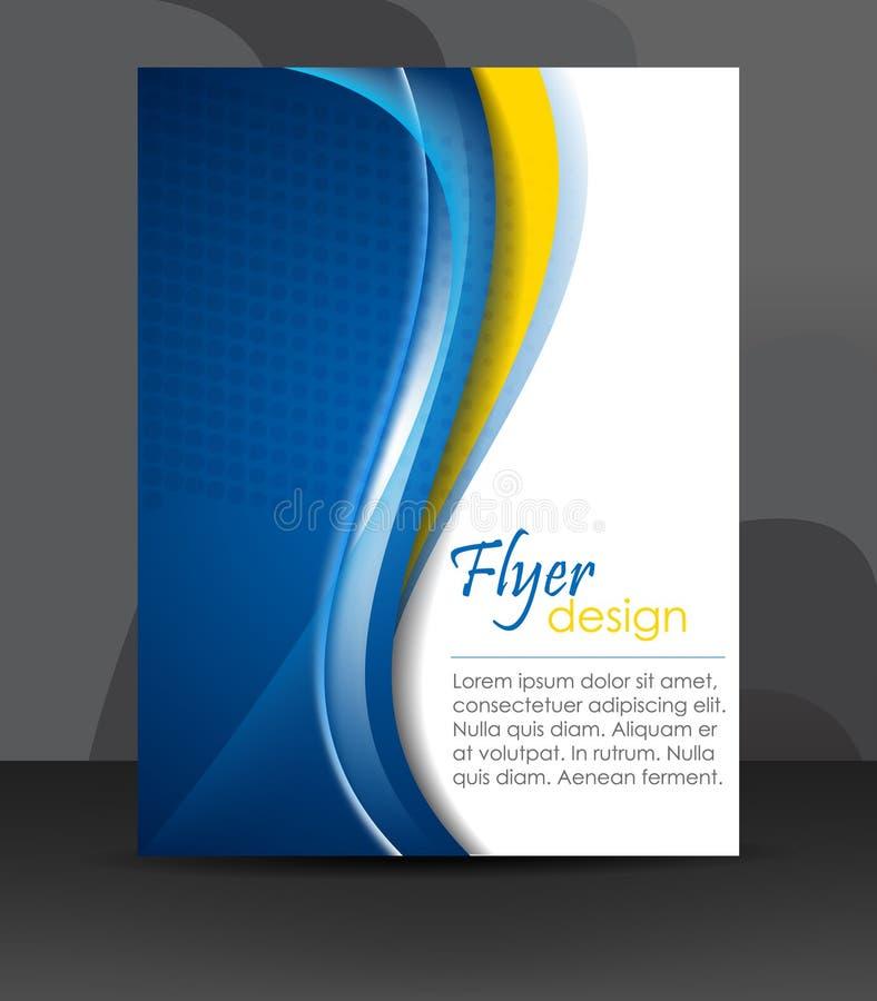 Biznesowy ulotka szablon lub korporacyjny sztandar, okładkowy projekt, broszurka ilustracji