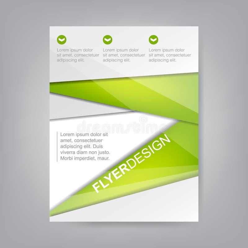 Biznesowy ulotka szablon, projekt, korporacyjny sztandaru, broszurki lub pokrywy, royalty ilustracja