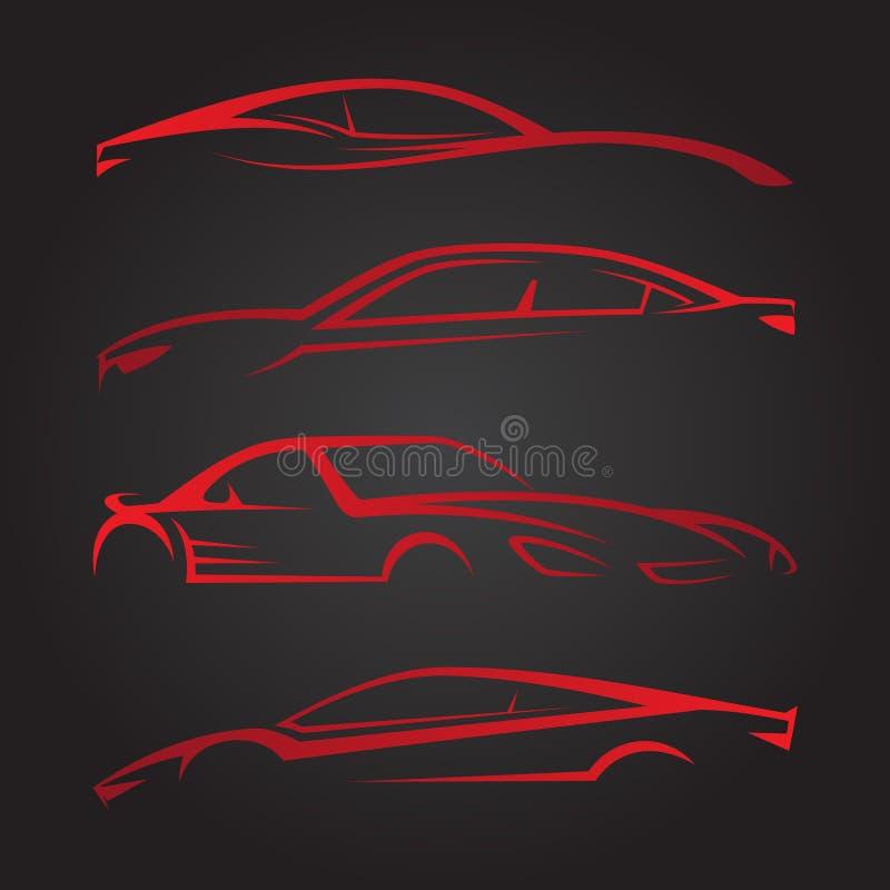 Biznesowy Ustawiający nowożytni samochodowi emblematy ilustracji