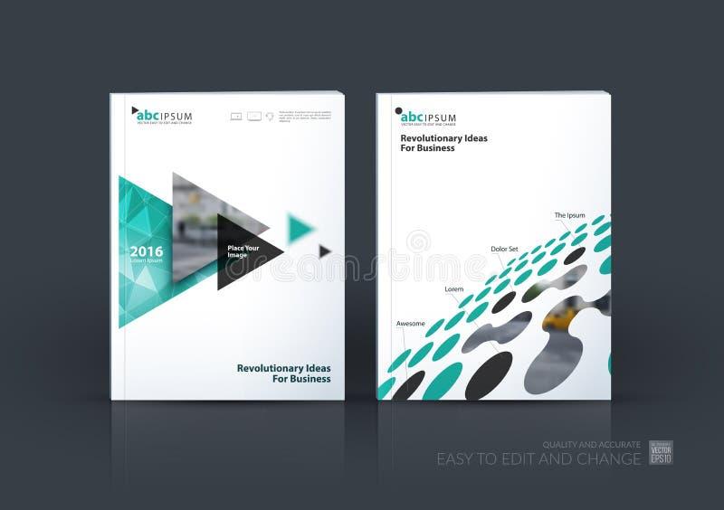 Biznesowy wektoru set Broszurka szablonu układ, okładkowy projekta annu ilustracji