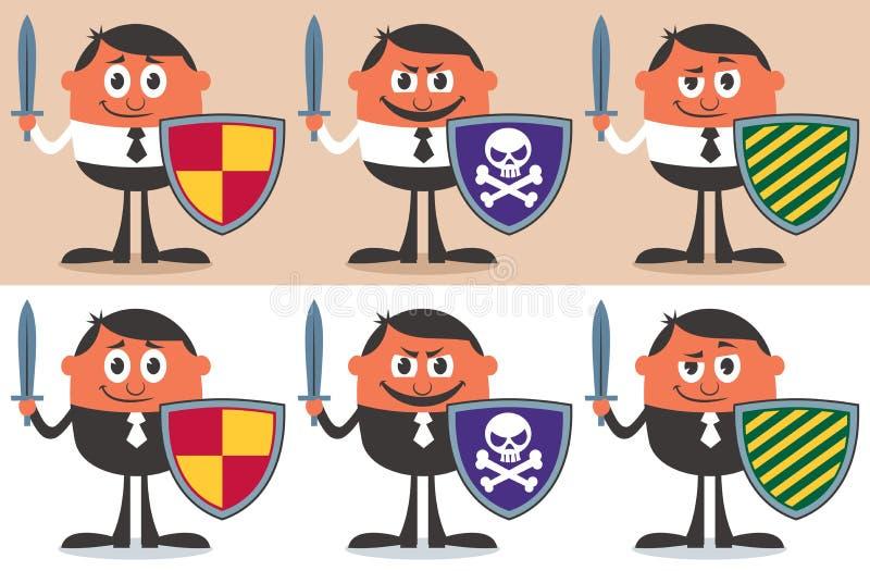 Biznesowy wojownik royalty ilustracja