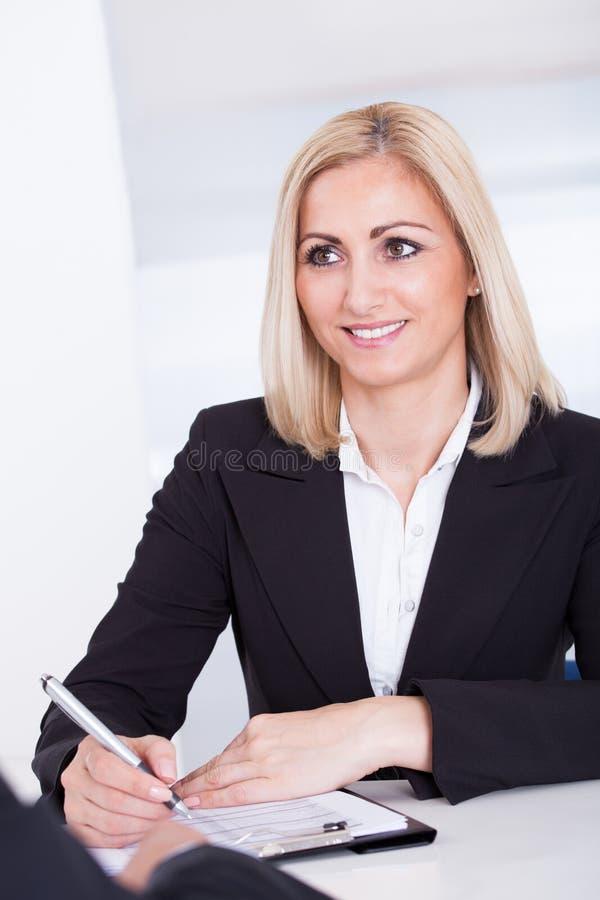 Biznesowy wywiad fotografia stock