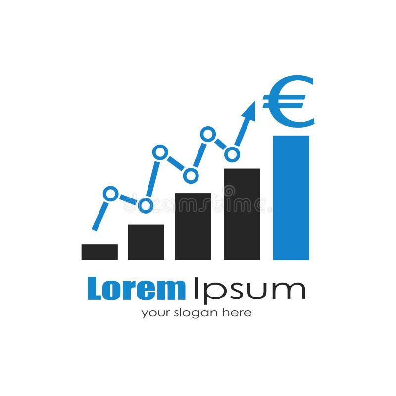 Biznesowy wzrostowy logo royalty ilustracja