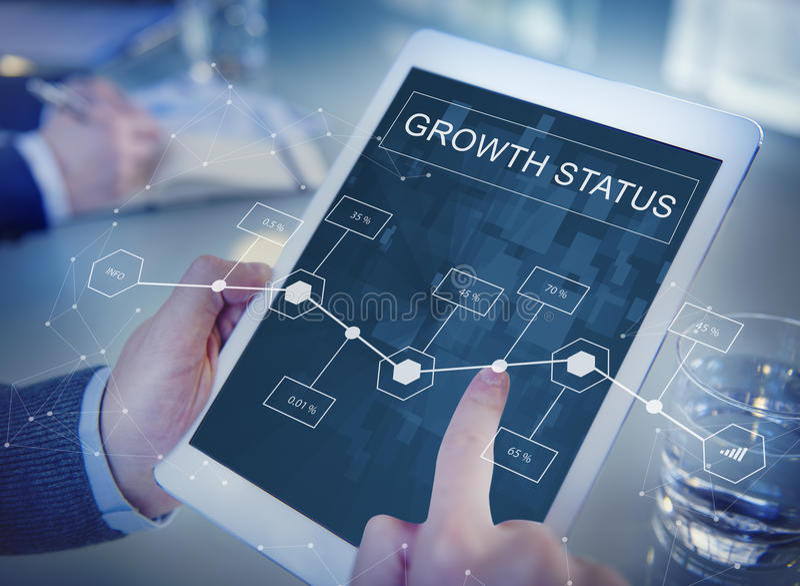 Biznesowy Wzrostowy osiągnięcie analityka strategii pojęcie obraz royalty free
