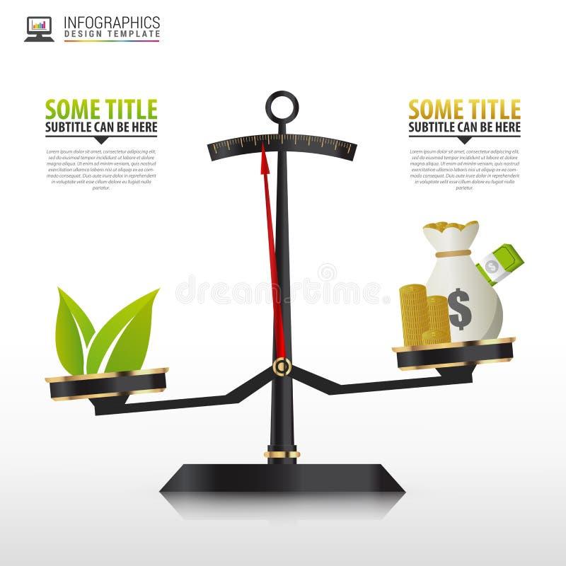 Biznesowy złoty stylowy ceny skala Infographics szablon wektor ilustracja wektor