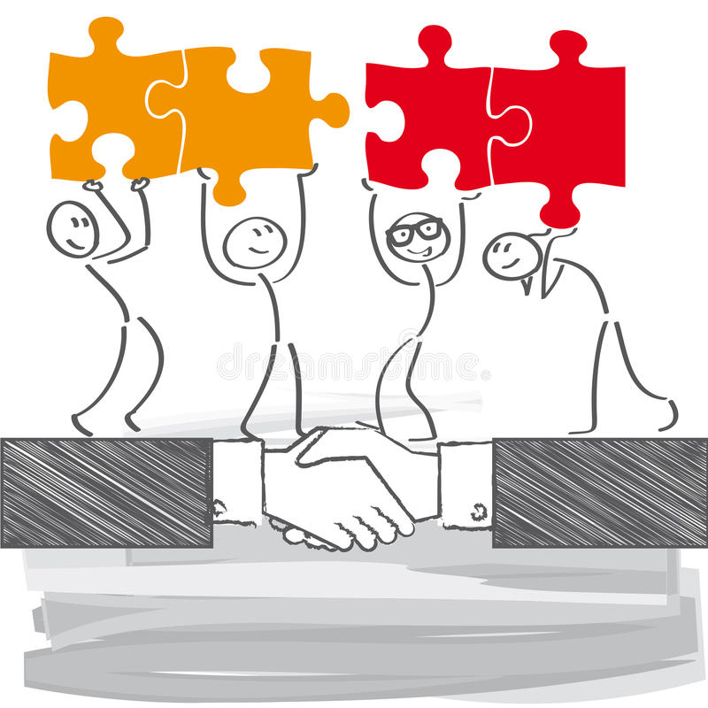 Biznesowy Związek ilustracja wektor
