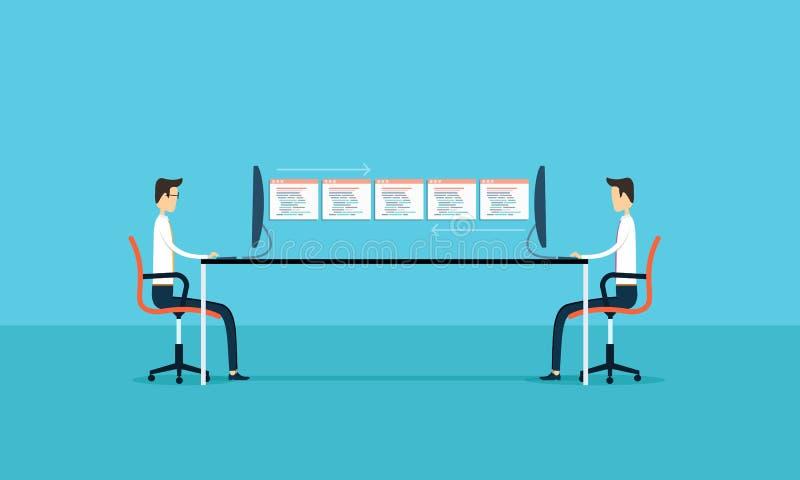 biznesowy związek rozwija i utrzymania zastosowanie royalty ilustracja