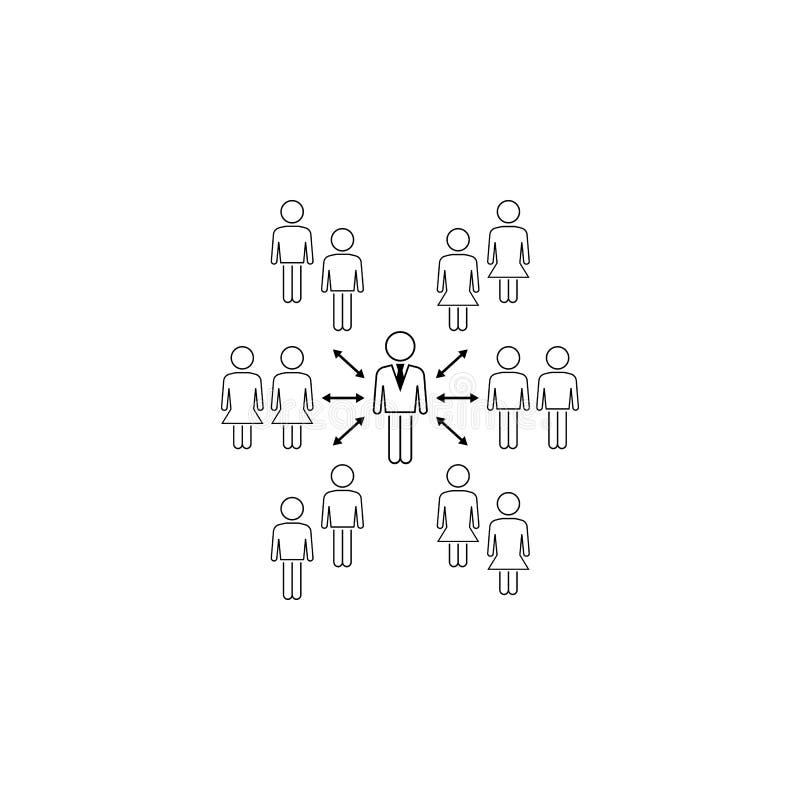 biznesowy związek z klient ikoną Element biznesowa ikona dla mobilnych pojęcia i sieci apps Cienieje kreskowego biznesowego relat ilustracja wektor