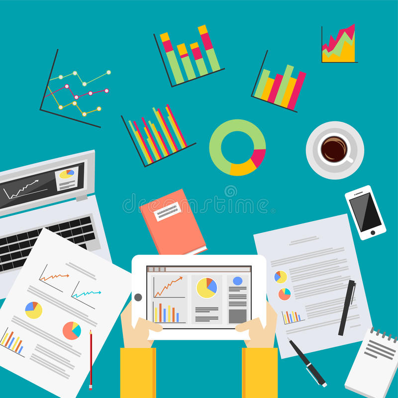 Biznesowych dane analityka Biznesowych statystyk analizy pojęcie ilustracji