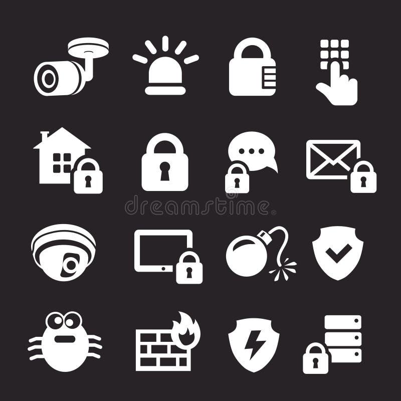 Biznesowych dane ochrony technologia, osobista ochrona i system bezpieczeństwa, royalty ilustracja