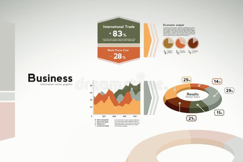 biznesowych grafika wykresów raportowe statystyki ilustracja wektor