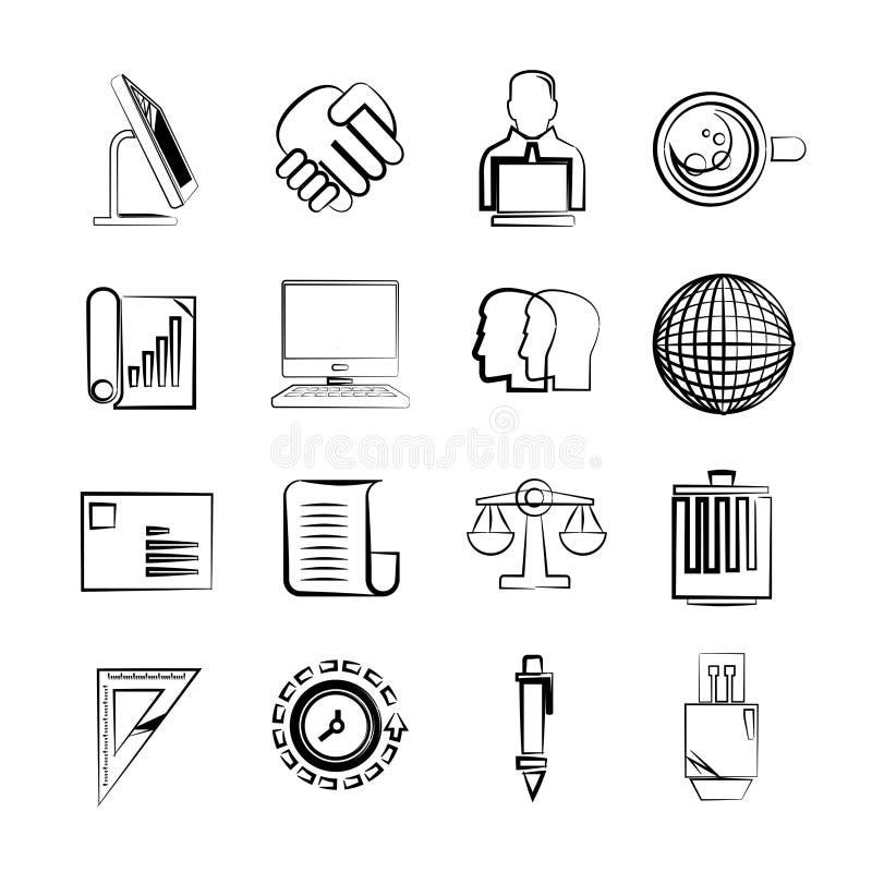 biznesowych ikon ilustracyjny biura wektor ilustracja wektor