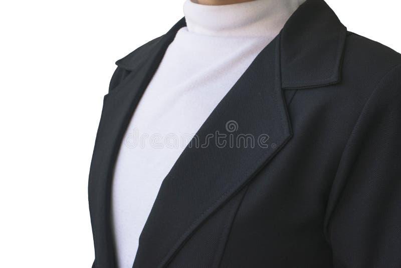 Biznesowych kobiet kostium odizolowywający na białym tle zdjęcie stock