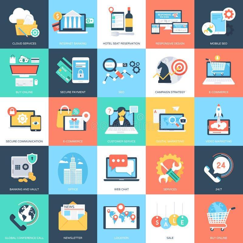 Biznesowych pojęć Wektorowe ikony 2 ilustracji
