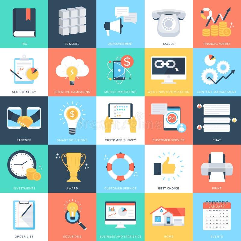 Biznesowych pojęć Wektorowe ikony 4 ilustracja wektor