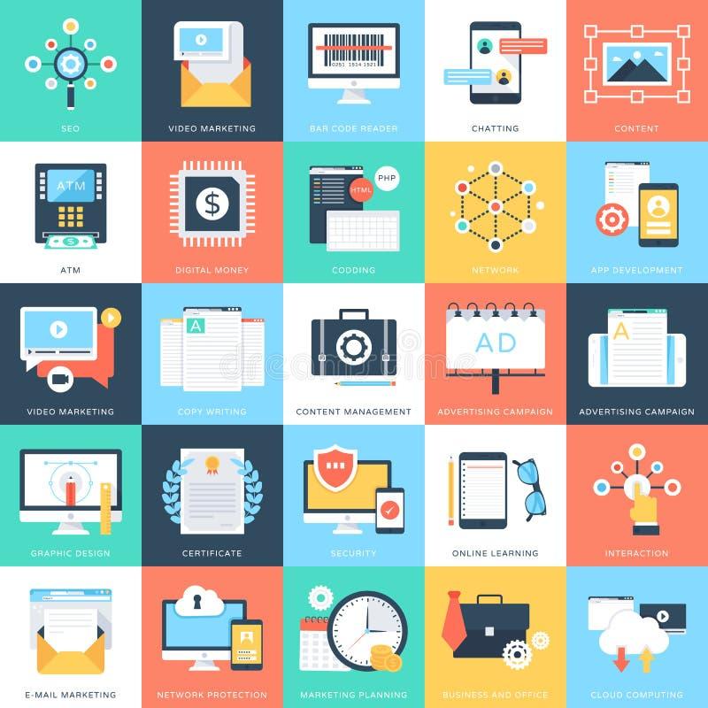 Biznesowych pojęć Wektorowe ikony 7 ilustracja wektor