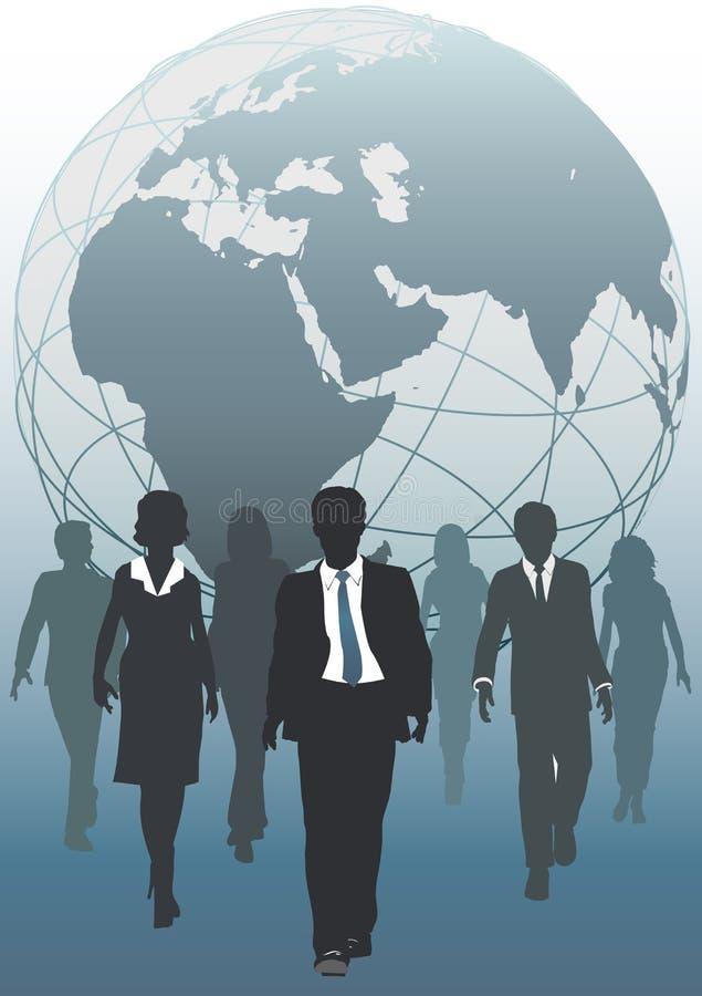 biznesowych wyłaniających globalnych zasobów drużynowy świat royalty ilustracja